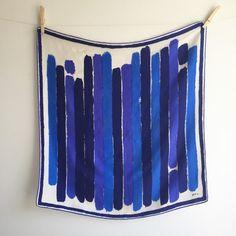 Vintage 60's Vera Neumann Silk Scarf / Blue by vintspiration