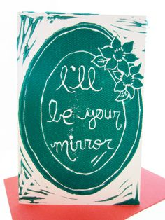 Ill be your mirror // turquoise valentine card by foreignspell, #songlyrics #quote #lyrics