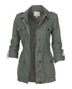 so like 60s rad :: Linen Military Jacket