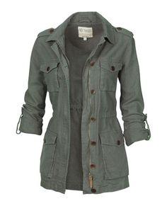so like 60s rad  :: Linen Military Jacket