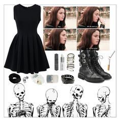 """""""effy stonem // i'm not crying"""" by benzofreak ❤ liked on Polyvore featuring Giuseppe Zanotti, H&M, Lord & Berry, Bobbi Brown Cosmetics and Chicwish"""