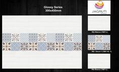 desinge no.1867 glossy series size-300x450mm more info. visit our website. www.jagrutimarketing.com mo no.9712965714 #walltiles #digitalwalltiles #bathroomtiles #sanitaryware Wall Tiles Design, Room Tiles, Website, Digital