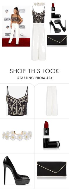 """similar to ariana grande"" by marissa-sw-ng ❤ liked on Polyvore featuring Alexander McQueen, Joseph, Humble Chic, Lipstick Queen, Casadei and L.K.Bennett"