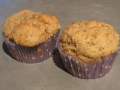 Peanut Butter Banana Honey Muffins- good recipe!  Remember to substitute Greek yogurt for the buttermilk.