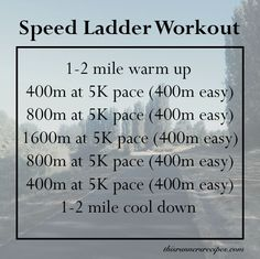 Bored of repetitive speed workouts? Try this speed ladder workout to keep you entertained while you push yourself to run faster and burn more calories.