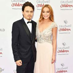 Red carpet official! #LindsayLohan and fiancé Egor Tarabasov made their red carpet debut as a couple at the #ButterflyBall in London  (Photo credit: Matt Crossick/PA Images/Startraksphoto.com) #Steevane #SV