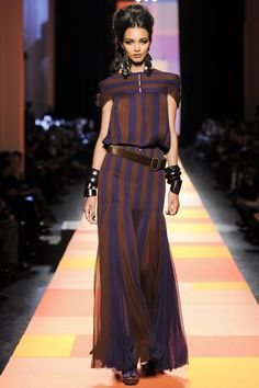 Jean-Paul Gautier, spring/summer 2013 haute couture collection, Pairs fashion week.