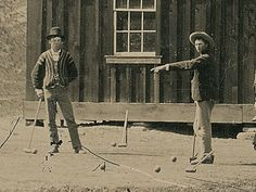 Billy the Kid—playing croquet with his gang in 1878
