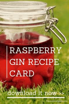 Raspberry gin is the best homemade gin to make this summer. Get this recipe card to help you make yours. Gin Recipe Card, Recipe Cards, Flavored Alcohol, Flavoured Gin, Gin Recipes, Cocktail Recipes, Easy Cocktails, Alcohol Recipes, Cocktail Drinks