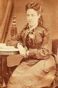 From the Paulita Maxwell Jaramillo photo album, this is a picture of Odile Maxwell, the sister of Paulita and Pete Maxwell and the daughter of Lucian Maxwell. Billy The Kids, Civil Wars, Old West, Family History, Civilization, Lincoln, Sisters, Photographs, Old Things