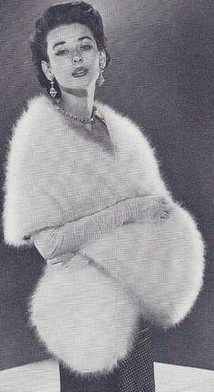 Vintage Angora Stole Knitting Pattern