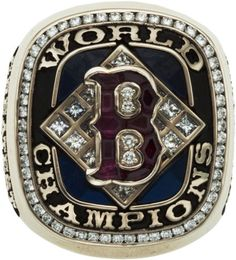 2004 Boston Red Sox World Championship Ring #americabound #newenglandbound @Sheila S.P. Collette Farm