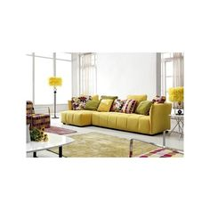 Cadrega Modern Sectional via Polyvore featuring home, furniture, sofas, modern furniture, modern sectional, modern sofa, mod home furniture and modern couch