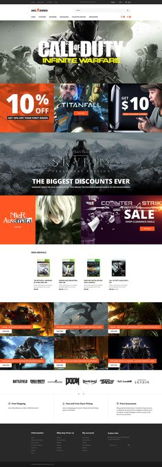 Arcademo Game  Responsive OpenCart Template