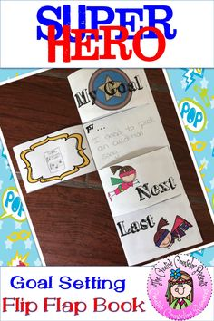 This Flip Flap Book guides students through each step as they visualize achieving their goal. Just print two sided, fold in half, cut the flaps, and fill in the steps. Use the left side to draw a picture of the goal and steps. Track the progress in the stars on the back! #GoalSetting #FlipFlapBook #SuperheroGoals #GoalSettingActivities #Foldable #CreativeCounselor #CreativeCounselingResources Elementary School Counselor, Elementary Schools, The New School, New School Year, Goal Setting Activities, Counseling Activities, Guidance Lessons, Classroom Displays, Career Education