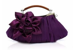 Purple Clutch Wedding Bridesmaids Purple Purse Satin