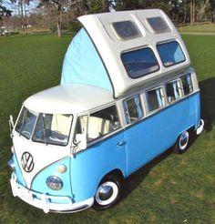 Combi VW, I think it's an english camper Volkswagen Transporter, Transporteur Volkswagen, Vw T1 Camper, Vw Caravan, Kombi Motorhome, Mini Camper, Campervan, Volkswagon Van, Caravan Ideas