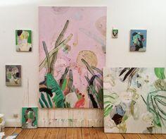 Anne-Sophie Tschiegg: Les porteurs n'iront pas plus loin. Painting Inspiration, Art Inspo, Studios D'art, Art Et Illustration, Art Design, Oeuvre D'art, Painting & Drawing, Modern Art, Abstract Art