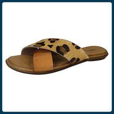 Leather Collection Damen Zehensteg-Sandalen (39 EU) (Leopard) - Zehentrenner für frauen (*Partner-Link)
