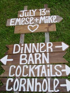 wedding signs 6 ft TALL rustic wedding signs by primitivearts, $140.00