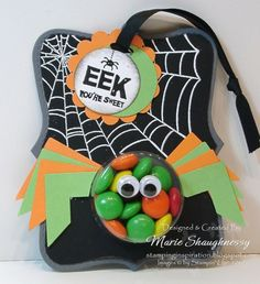 SWEET TREAT SPIDER ORNAMENT... Countdown to Halloween Project #15  I did this project on my Pampered Stampers Weekend and after several requ...