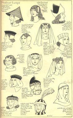 Midevil headdresses