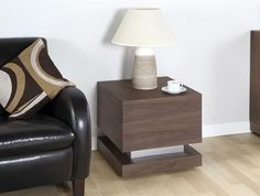 Jual Furnishings Cube Lamp Table in Walnut Finish - JF613LT - Ideal for brightening up your living space, the Jual Furnishings cube lamp table in walnut will bring a whole new look to any modern or traditional home.