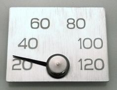 Elegant Thermometer for sauna, by