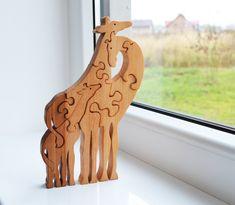 Tier puzzle - Vatertag Geschenk - Puzzle aus Holz Giraffe - Lernspielzeug - Puzzle Spielzeug - Kinder Geschenke - Holz Giraffe - große Giraffen Familie ----------------------------------------------------------------------------------------------------  Kundenspezifisch konfektioniert ----------------------------------------------------------------------------------------------------  Puzzle Giraffen - ist ein tolles Spiel für Bildungs- und Entwicklungsländern. Gut entwickelte motor Finger…