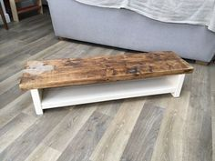 LARGE ETSY TV BENCH MADE FROM RECLAIMED WOOD in Home, Furniture & DIY, Furniture, TV & Entertainment Stands | eBay