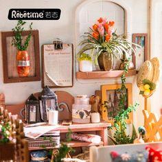 Puppenstuben & -häuser 1:24 DIY Miniatur West Bar Möbel Kit Kinder Geburtstag Weihnachtsgeschenke
