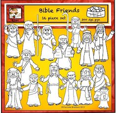 Classroom Freebies Too: Free Bible Friends Clip Art from Charlottes Clips