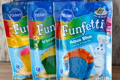 Funfetti Cupcake & Cake Mixes, Pillsbury, General Mills, Inc. One General Mills Boulevard Golden Valley, Minnesota, U.S. and the J.M. Smucker Company, Orrville, Ohio, United States.