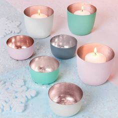 The Best Room Pastel And Rose Gold Votive Holders ($6.15) ❤ liked on Polyvore featuring home, home decor, candles & candleholders, colored votive candle holders, pastel home decor and colored votive holders