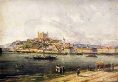 Bratislava, Old Pictures, Cities, History, Painting, Art, Art Background, Historia, Painting Art