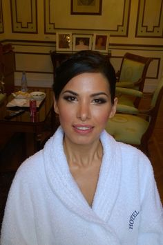 celebrity makeup and hairstyle in Rome italy  for South American bride