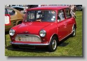 1960 Austin Se7en.  Austins could be distinguished from their Morris cousins by the 'crinkle' grille.