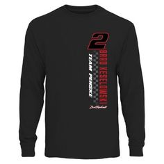 Brad Keselowski Finish Line Long Sleeve T-Shirt - Black