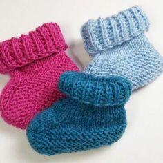 Babyschühchen Stricken Baby Booties Anleitung Für Anfänger Baby
