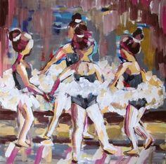"Saatchi Online Artist Ina Shtukar; Painting, ""Ballerinas 2"" #art"