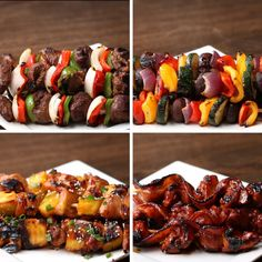 Mix it up this summer with these sweet and savory skewers. 4 Types Of Skewers To Serve At Your Summer BBQ Grilling Recipes, Beef Recipes, Cooking Recipes, Skewer Recipes, Grill Meals, Steak Dinners, Recipies, Cooking Games, Tasty Videos