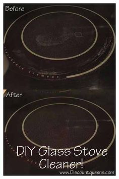 Beautiful Do It Yourself Glass Stove Top Cleaner! Only THREE Ingredients