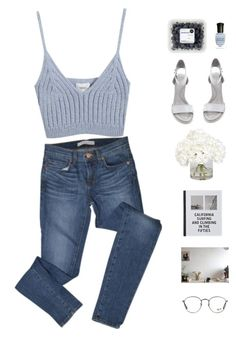 """""""Ocean breeze."""" by gre17 ❤ liked on Polyvore featuring J Brand, Chicnova Fashion, Alexander Wang, Deborah Lippmann, Ethan Allen, Patagonia and Ray-Ban"""