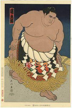Diamon Kinoshita Japanese Woodblock Print Akebono Hawaiian Sumo Wrestler 1988   eBay