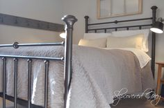 Spray Painted Brass Bed with Rust-Oleum Universal Metallic Painter & Primer in Oil Rubbed Bronze