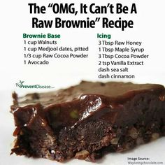 Raw Brownie will ruin you for baked ones :)