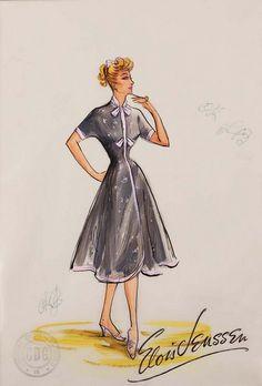 I Love Lucy ~ Costume Sketch By Elois Jenssen
