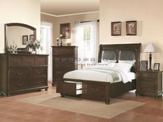 You'll an ideal sanctuary to leave your day's troubles behind you with the beautiful Hannah collection. The bedroom pieces carry a brown cherry finish and is crafted from pine solids and cherry veneers and features bun feet and a slanted bed headboard. In addition, the ample storage space, including the two drawers at the foot of the bed, are great for keeping sweaters, jeans, blankets, bedsheets, books, DVDs, stockings and undergarments. Brighten up your bedroom with the simplistic style…
