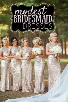 Find the dresses above & more cute, modest bridesmaid dresses here: http://hotcommodesty.blogspot.com/2015/04/cute-modest-bridesmaid-dresses.html