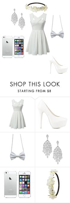 """""""White skater dress"""" by summer213440 ❤ liked on Polyvore featuring Nly Shoes and Charlotte Russe"""